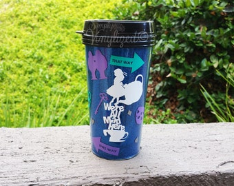 Alice In Wonderland Inspired Glitter Coffee Mug