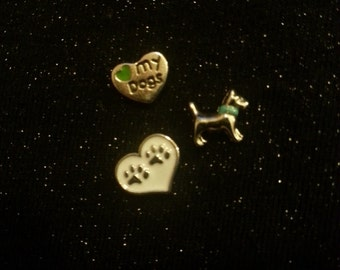 Floating Locket Charms - Dogs