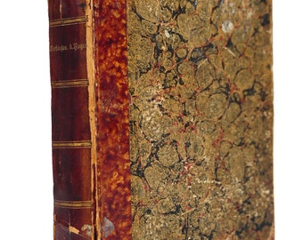 Antique 1855 Prussian Book -Signed