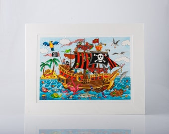 Shiver Me Timbers! Limited Edition Print by Jenny Laidlaw
