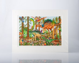 The Prehistoric Playground Limited Edition Print by Jenny Laidlaw