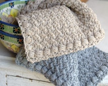 Crochet Pattern Crochet Dishcloth Pattern Washcloth Pattern Crochet Hand Towel Easy Dishcloth Crochet Facecloth Pattern - Creek Pebbles P114