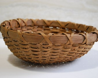 Sale! Antique Native American Splint Gathering Basket Farmhouse Cottage Rustic Decor