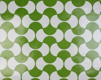 Geometric Minimalist GREEN Dillyan Vintage Original 1970s 1960s Wallpaper Vinyl