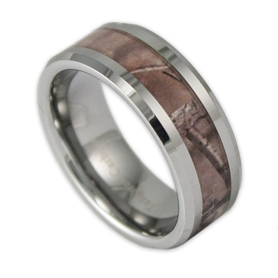 8mm wide mens tree camo tungsten wedding ring by for Camo mens wedding rings