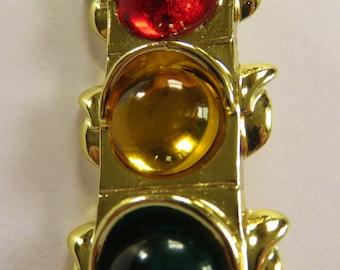 HTF AJC Traffic Light Brooch Pin