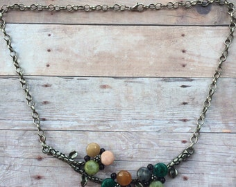 Beaded Branch Necklace