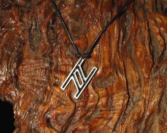 Hagalaz Rune Pendant