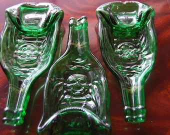 Lucky Buddha Melted Bottle Spoon Rest / Tray