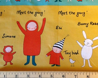MEET THE GANG byMarisa and Creative Thursday - Andover Fabric - Simone - Eli - Olive - Ruby - Bunny Rabbit - Kids - Tiny Bird - Nursery