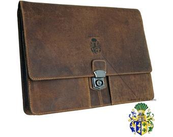 Leather folder Briefcase A4 Portfolio SEMMELWEIS 2.0 - BARON of MALTZAHN