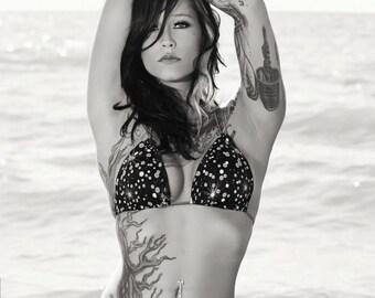 Callie Jane bikini black and white