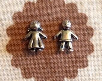 Silver Little Girl/Boy floating locket charm