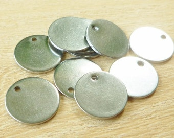 Stainless Steel Stamping Blanks - Stamping Blanks - Blanks - Round Stamping Blanks - 10mm Stamping Blanks - Stainless Steel Disc - Tag