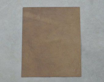 "Rustic Light Brown Leather Cow Hide 8"" x 10"" Pre-cut 3 ounces smooth TA-27540 (Sec. 4,Shelf 4,B)"