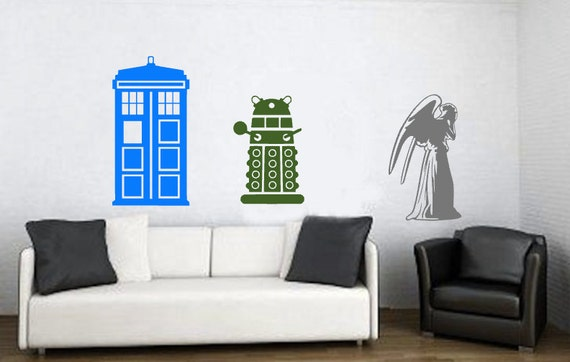 Wall Decals For Dr Office : Doctor Who Inspired Wall Decal, Tardis Wall  Decal,