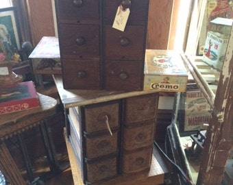 6 Drawer Sewing Cabinet Unit, Turn of the Century, Great Patina
