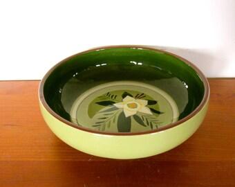 """Stangl 9"""" Salad Serving Bowl in Star Flower Pattern"""