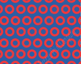 Blue and red dots craft  vinyl sheet - HTV or Adhesive Vinyl -  large outline polka dot pattern 7000
