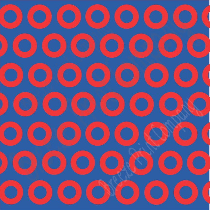 Blue And Red Dots Craft Vinyl Sheet Htv Or Adhesive