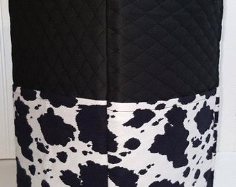Black Quilted Cowhide Cover for Cuisinart 14 Cup Custom Edition Food Processor