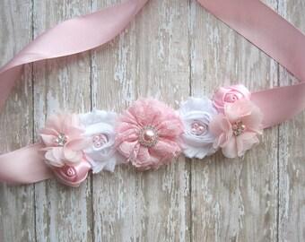 Pink Maternity sash, girl sash, belly sash, pregnancy sash, pink sash, it's a girl girl sash, newborn photo prop, pregnancy sash, baby pink