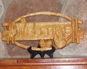 Welcome Sign Wood ~ Birds on Branch ~ Carved Wooden Welcome Sign ~ Outdoor Welcome Sign ~ Rustic Welcome Sign by TheWoodGrainGallery