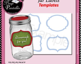Canning Jar Label TEMPLATE by Boop Printables