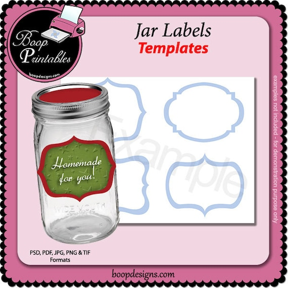 canning jar label template by boop printables. Black Bedroom Furniture Sets. Home Design Ideas