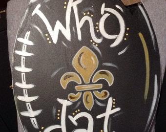 Football Door Hanger, Saints, New Orleans, Louisiana, Who Dat