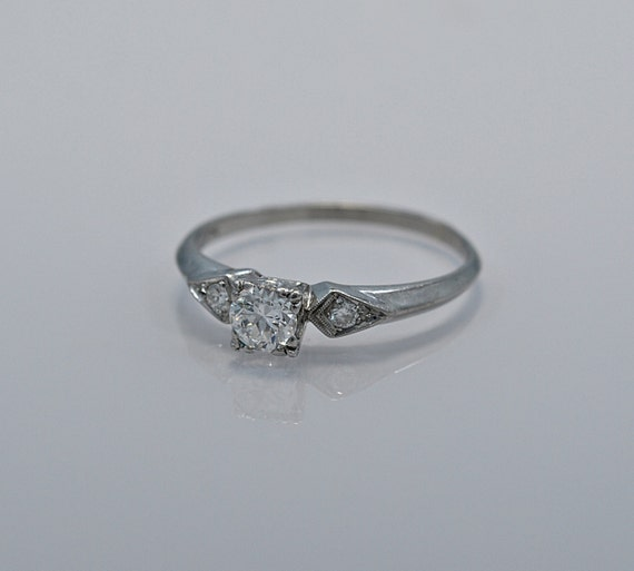 0 40ct platinum deco engagement ring by peacock