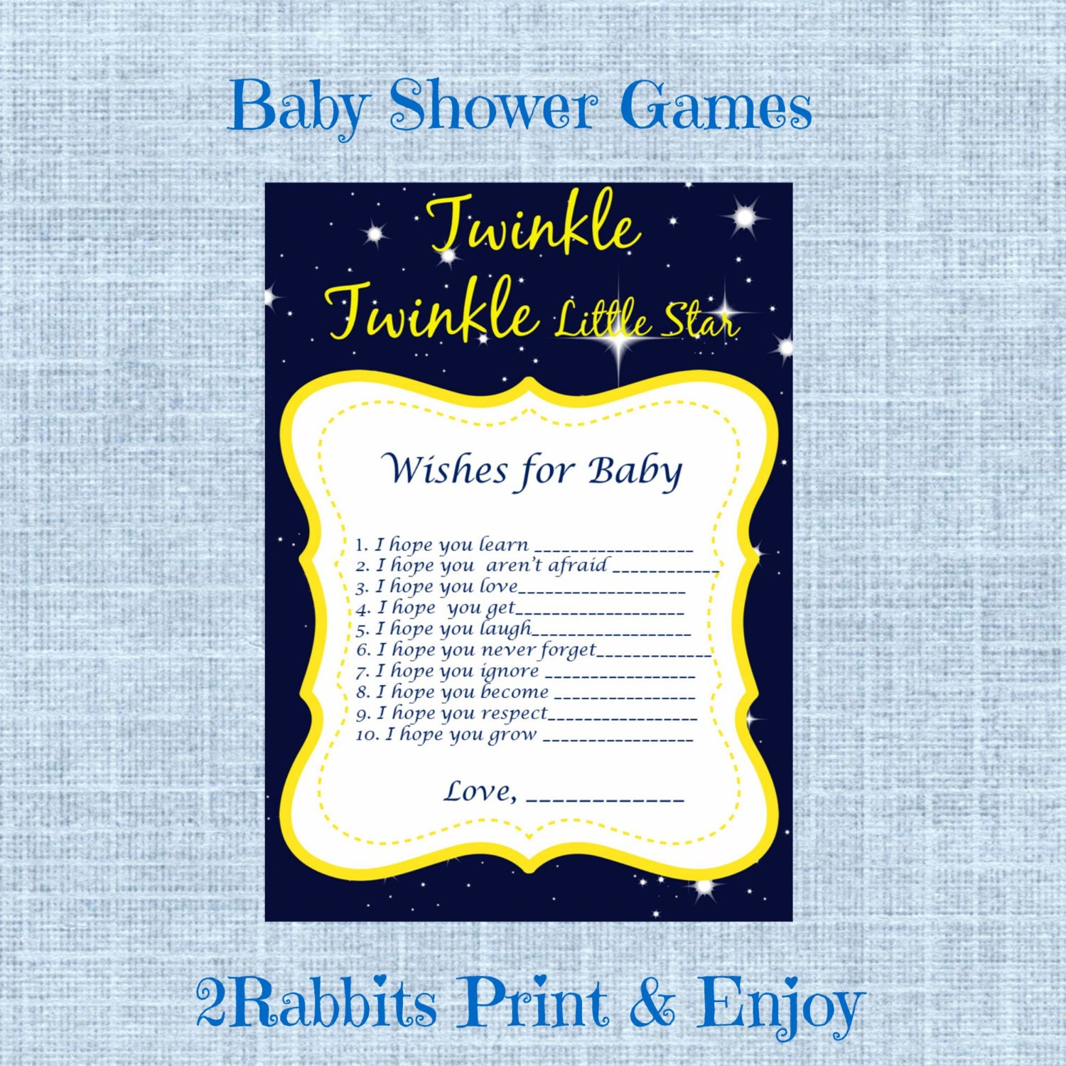 wishes for baby twinkle twinkle little star baby shower