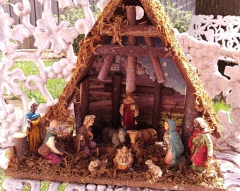 Beautiful Vintage Nativity Set Made in Italy