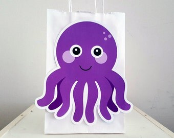 Octopus Goody Bags, Octopus Favor Bags, Octopus Party Bags, Under the Sea Goody Bags, Under the Sea Favor Bags