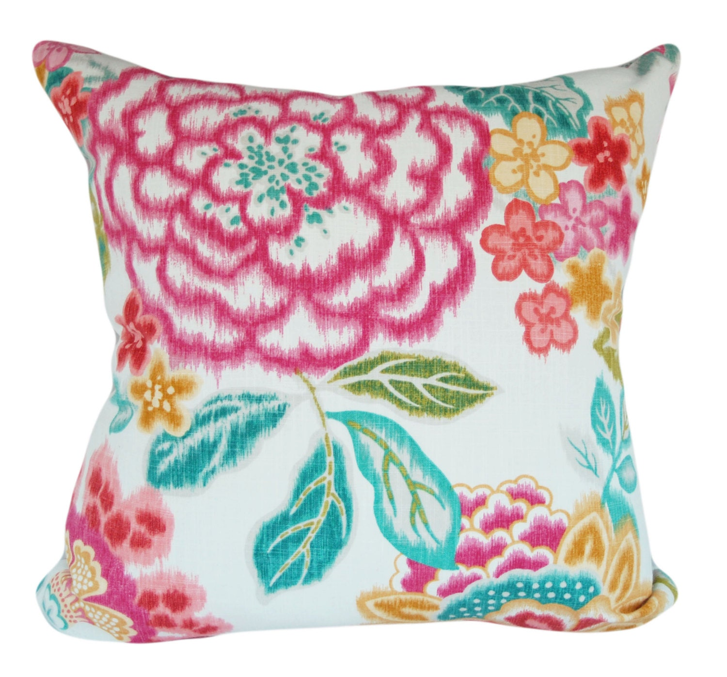 Kaufmann Ikat Floral Throw Pillow Cover Decorative Pillow