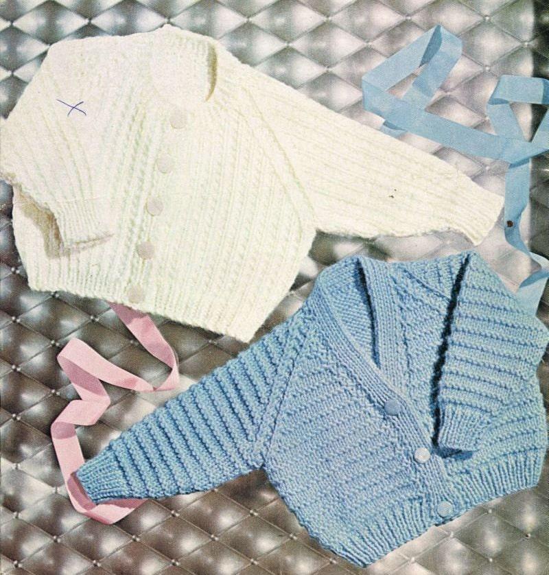 Vintage Baby Cardigan Knitting Pattern : baby cardigan vintage knitting pattern PDF instant by ...