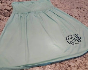 Monogrammed swim suit cover up