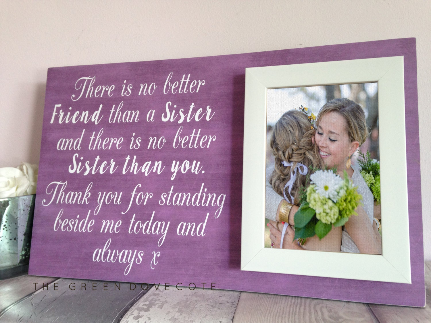 Perfect Wedding Gift For Sister: Gift For Sister Personalized Gift For Sister Sister