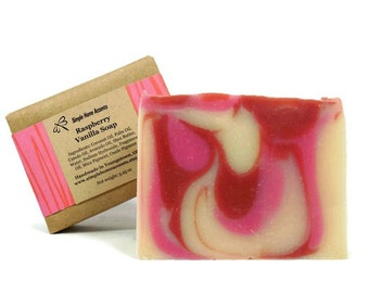 Raspberry Vanilla Soap, Handmade Soap, Vegan Soap, Raspberry Soap, Gift under 10