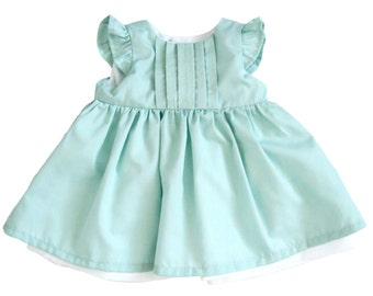 Baby Girl Dresses - Mint Baby Dress - Mint Green Baby Girl Dress - Dress for Baby Girl - Baby Party Dresses