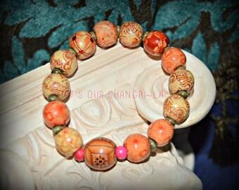 Bracelets ~ Wood Beaded Bracelet