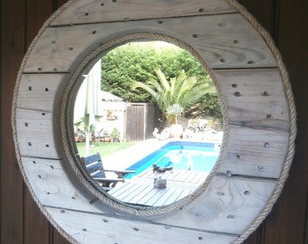Cable Reel Mirror Upcycled
