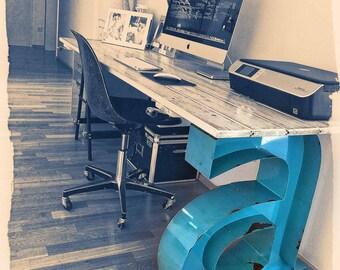 Marquee Letter Desk Leg, Customizable Vintage Style, Marquee Letter, Vintage Marquee, Marquee Fixture: Marquee Customizable Desk Leg