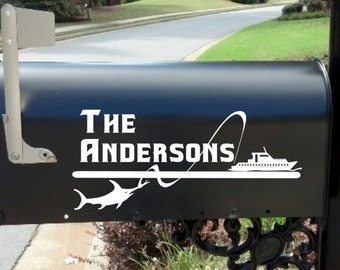Mailbox Decal * Mail Box*  Lake House * Custom *  Personalized