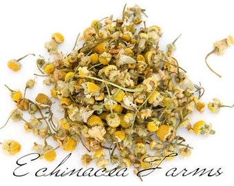 CHAMOMILE FLOWERS - 8 OZ. Organic Tea Herb Herbal German Culinary Wiccan Whole Potpourri Soap Making Crafts