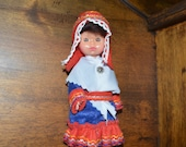 Vintage Lapland doll. Vintage souvenir doll from Lapland. Lapin Paja