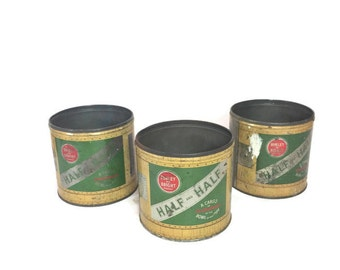 Half and Half Tobacco Tin Set of 3 Vintage