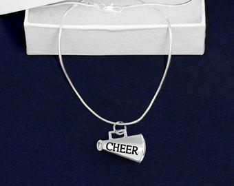 Cheerleading Megaphone Necklace (RETAIL) (RE-N-09-SPCH)