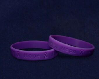 purple cancer awareness necklace purple ribbon jewelry