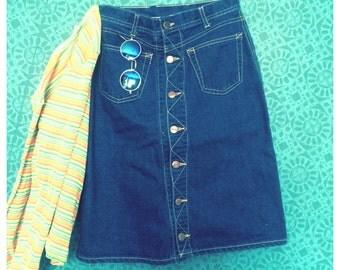 90's denim skirt xs/s